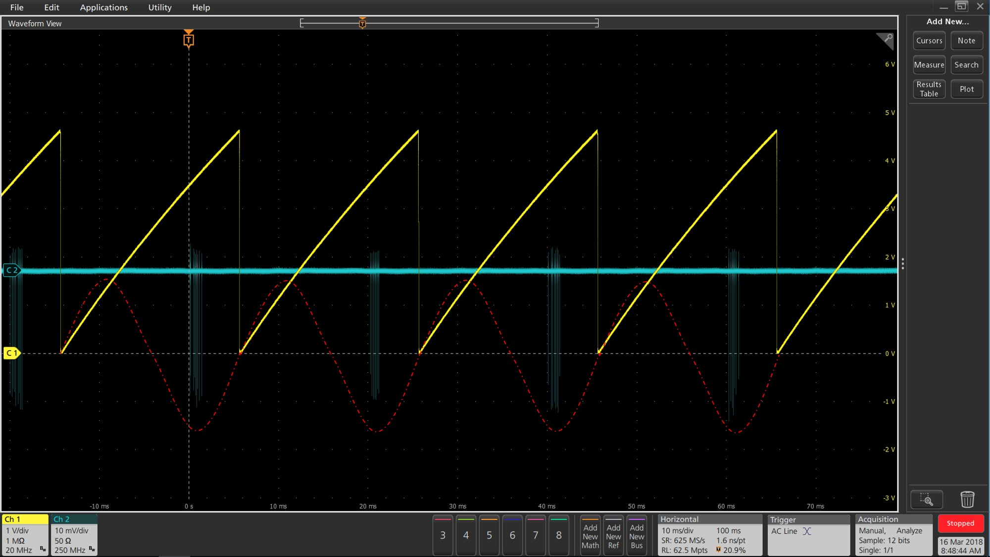 Acquisition of PD signal using a synchronization circuit